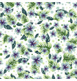 a seamless colorful pattern with tropical plants vector image vector image