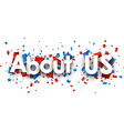 about us sign