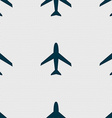 Airplane sign Plane symbol Travel icon Flight flat vector image