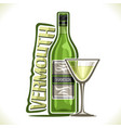 alcohol drink dry vermouth vector image