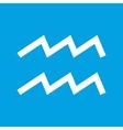 Aquarius white icon vector image