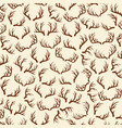 background pattern with deer horns vector image vector image