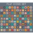 Big set of flat icons with modern colors