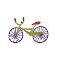 bike city street design element cartoon vector image