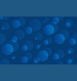 blue water abstract texture with bubbles vector image vector image