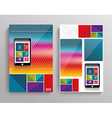 brochure template design with Smart Phone vector image vector image