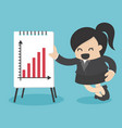 business woman present graph vector image vector image