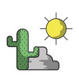 cactus desert cartoon vector image