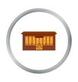 Cafe icon cartoon Single building icon from the vector image vector image