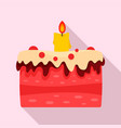 candy cake icon flat style vector image