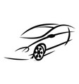 car silhouetteeps vector image