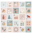 cartoon advent calendar christmas presents vector image