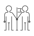 Community team friendship togetherness icon vector image vector image