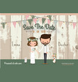 Couple rustic wedding invitation card vector image vector image
