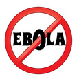 ebola sign vector image