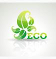 eco-friendly organic and farm fresh food badge vector image
