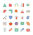 Education Flat Colored Icons 5 vector image vector image