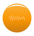 equalizer wave sound icon orange vector image vector image