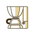 espresso maker machine coffee shop equipment vector image