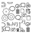 figure technology icons background vector image vector image