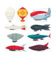 flight zeppelin airship balloon freedom concept vector image vector image