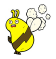 funny comic cartoon bee vector image vector image