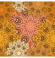Golden seamless pattern with flowery vector image vector image