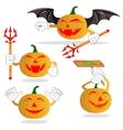 halloween cartoon pumpkin for celebration of hall vector image