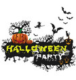 happy halloween poster night background with vector image vector image
