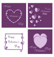 happy valentines day greeting card beautiful love vector image vector image