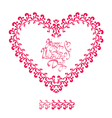 heart ornament 3 380 vector image vector image