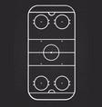 ice hockey court line on blackboard background vector image