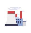 industrial building power plant factory vector image vector image