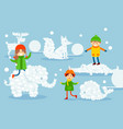 kids have fun and dream flat vivid imagination vector image