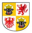 mecklenburg western pomerania coat arms vector image vector image
