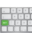 media icon keyboard vector image vector image