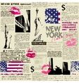 Newspaper New York with the sketch statue of vector image vector image