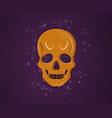 orange skull vector image