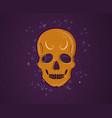 orange skull vector image vector image