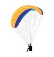 paragliding - vector image vector image
