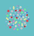 pharmacy and drug set medicinal pills and vector image