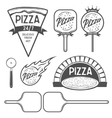 Pizza labels badges and design elements Vintage vector image vector image