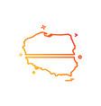 poland map icon design vector image
