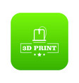 production 3d printing icon green vector image vector image