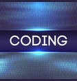 programming code abstract technology background of vector image vector image