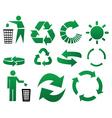 recycle symbols vector image vector image