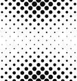 Repeating monochrome dotted pattern vector image vector image