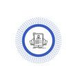 resume employee hiring hr profile line icon vector image