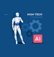 robotics website banner template vector image vector image