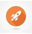 Rocket icon in flat style vector image vector image